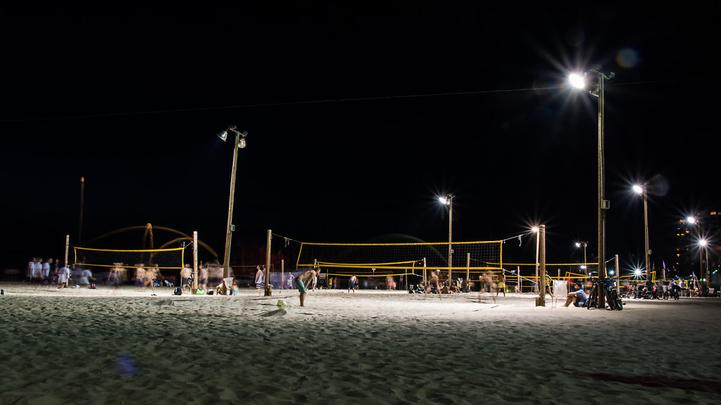 Volleyball by night